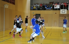 Korbball, Cup-Final 2012/13, Turner: Pieterlen (schwarz)-Altnau 11:14.