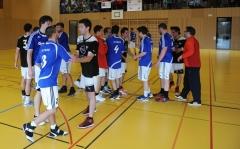 Korbball, Cup-Final 2012/13, Turner: Altnau gewinnt, Jubel- und Gratulationsphase.
