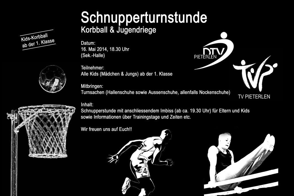 Schnupperturnstunde Jugi und Korbball 2014